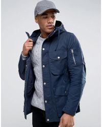 Asos parka jacket navy