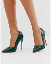 Chaussures à talon aiguille - Serpent vert Lost Ink en coloris Green