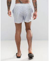 Jack & Jones Blue Swim Shorts Seersucker for men