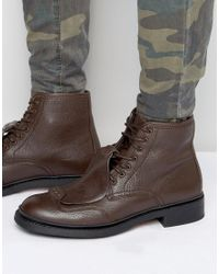 G-Star RAW   Brown Guard Lace Up Leather Boots for Men   Lyst