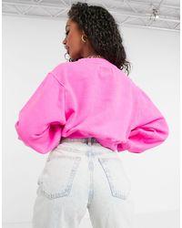 Jersey con cuello redondo y manga globo en rosa intenso Brook Ugg de color Pink