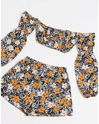 PRETTYLITTLETHING Multicolor – Shorts mit Blumenmuster, Kombiteil