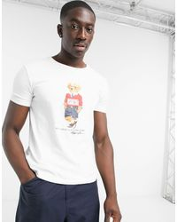 Camiseta blanca Polo Ralph Lauren de hombre de color White