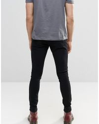 Brooklyn Supply Co. Washed Black Dyker Super Skinny Jeans for men
