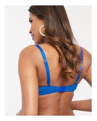 Синий Кружевной Бюстгальтер-балконет Ann Summers, цвет: Blue