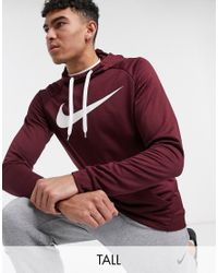 Nike Purple Tall Pullover Hoodie for men