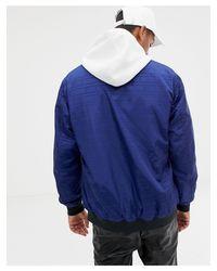 Love Moschino Bomberjack Met Print in het Blue voor heren