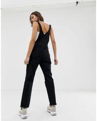 Salopette di jeans nera di NA-KD in Black