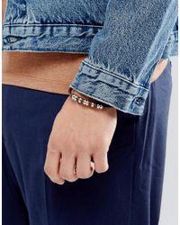 Seven London - Brown Bead & Leather Bracelet - Lyst