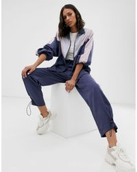 Native Youth Blue Tracksuit Bottoms With toggles Co-ord
