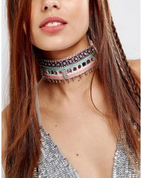ASOS - Multicolor Statement Neon Festival Choker Necklace - Lyst