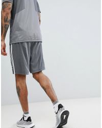 Adidas Originals Gray Plgn Shorts In Grey Cw5111 for men