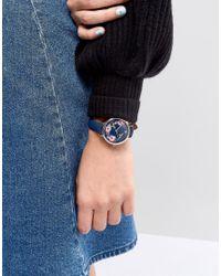 ASOS - Blue Dark Floral Watch - Lyst