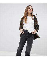 Pull&Bear Black Kurz geschnittene Jeans mit geradem Beinschnitt und Fransensaum