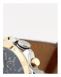 Часы С Кожаным Ремешком Decker Tommy Hilfiger для него, цвет: Brown