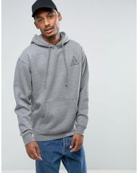 Huf Gray Triple Triangle Hoodie for men