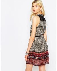 ONLY - Black Nly Summit High Neck Printed Dress - Lyst