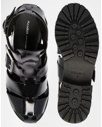 Pull&Bear - Black Cut Out Sandal - Lyst