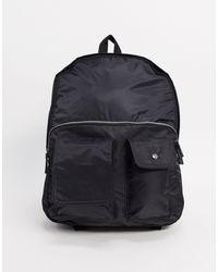Черный Рюкзак С Карманом Спереди ASOS для него, цвет: Black