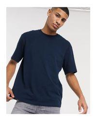 Topman Blue Oversized T-shirt for men