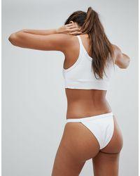 Slip bikini a vita alta di TWIIN in White