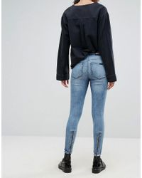 Dr. Denim Blue High Waist Jean With Back Leg Zips