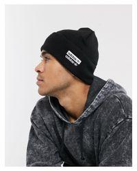 Berretto nero con logo RYV di Adidas Originals in Black da Uomo
