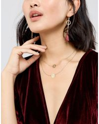 ASOS - Metallic Pack Of 2 Filigree Disc Necklaces - Lyst