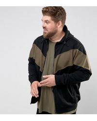 Another Influence - Black Plus Panel Zip Thru Hoodie for Men - Lyst