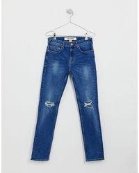 Jeans slim lavaggio blu di New Look in Blue da Uomo