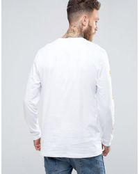 ASOS White Space Jam Relaxed Long Sleeve T-shirt for men