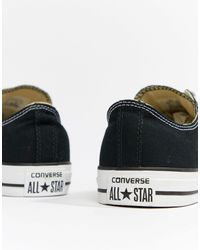 Converse Black All Star Ox Plimsolls for men