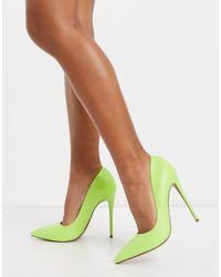 Туфли-лодочки На Шпильке Лаймового Цвета ASOS, цвет: Green
