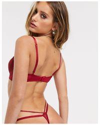 Красные Кружевные Стринги -красный Ann Summers, цвет: Red