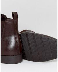 ASOS Red Asos Chelsea Boots In Burgundy for men