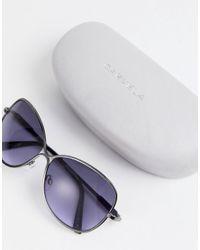 Carvela Kurt Geiger Purple Retro Style Sunglasses
