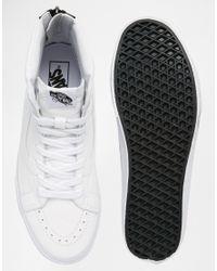 Vans Sk8-hi Reissue Zip Sneakers In White V4kyii9 - White for men