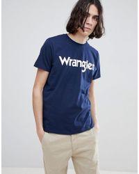 Wrangler Blue Logo T-shirt for men