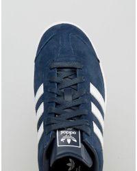 Adidas Originals Blue Hamburg Trainers In Navy S74838 for men