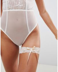 ASOS Brown Asos Bridal Lace Garter
