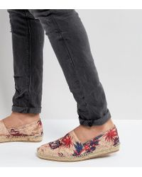 H by Hudson | Natural Exclusive For Asos Palm Print Espadrilles | Lyst