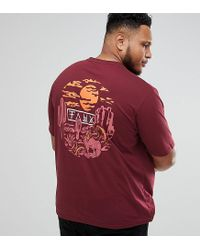 Friend or Faux Red Plus Rattler Back Print T-shirt for men