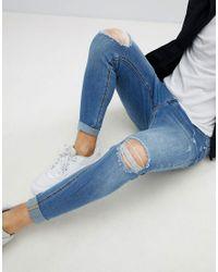 Kings Will Dream - Super Skinny Jeans In Lightwash Blue for Men - Lyst