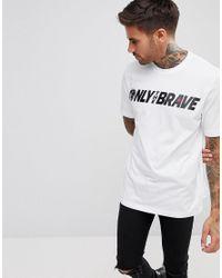 DIESEL - White T-just-sv Brave Logo T-shirt for Men - Lyst