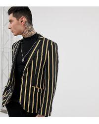 Americana con diseño a rayas Heart & Dagger de hombre de color Black