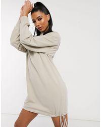ASOS Natural Hoodie Sweat Dress