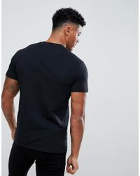 Versace Jeans T-shirt In Black With Large Logo for men