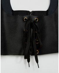 ASOS - Black Harness Detail Corset Waist Belt - Lyst