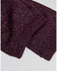 Ted Baker - Purple Tescarf Scarf In Ribbed for Men - Lyst