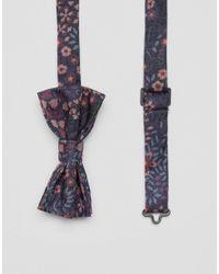 ASOS - Black Ditzy Floral Bow Tie for Men - Lyst